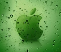 Wallpaper en Hd, símbolo de Apple con lluvia.