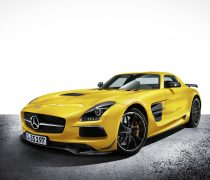 Wallpaper gratuito de un Mercedes SLS AMG Black Series , en HD.
